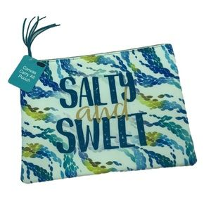 Salty & Sweet Canvas Carry All Pouch NWT